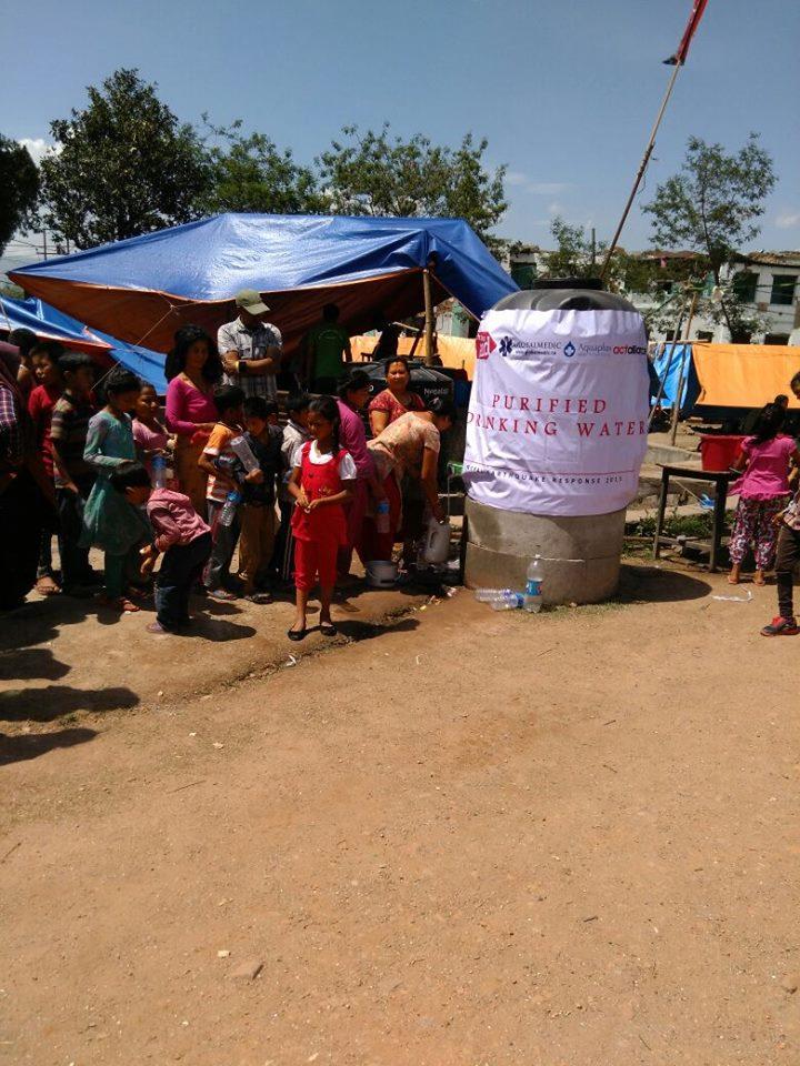 Nepal earthquake-April-2015 - AquaPlus Water Purifiers (Pvt) Ltd
